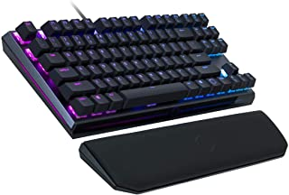 Cooler Master MK730 Tenkeyless Gaming Mechanical Keyboard with Red Switches, Cherry MX, RGB Per-Key Lighting and Removable Wrist Rest
