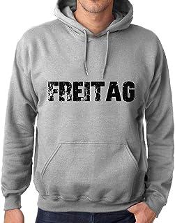 Ultrabasic Men/'s Printed Graphic Sweatshirt Popular Words Negro Grey Marl