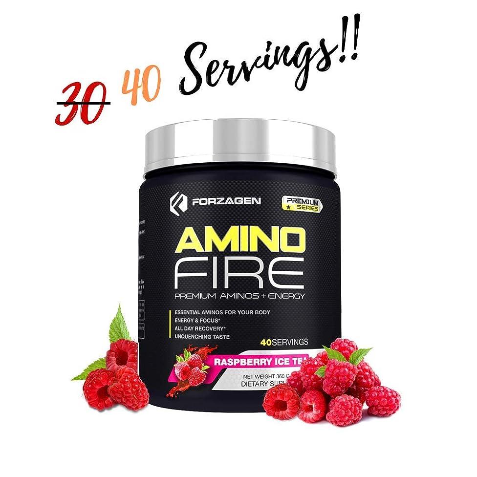 Forzagen Amino Energy + BCAA Amino Acids - Energy   Focus   Endurance   Reaction   40 Servings of Amazing Flavors   Amino Fire (Raspberry ICE Tea)