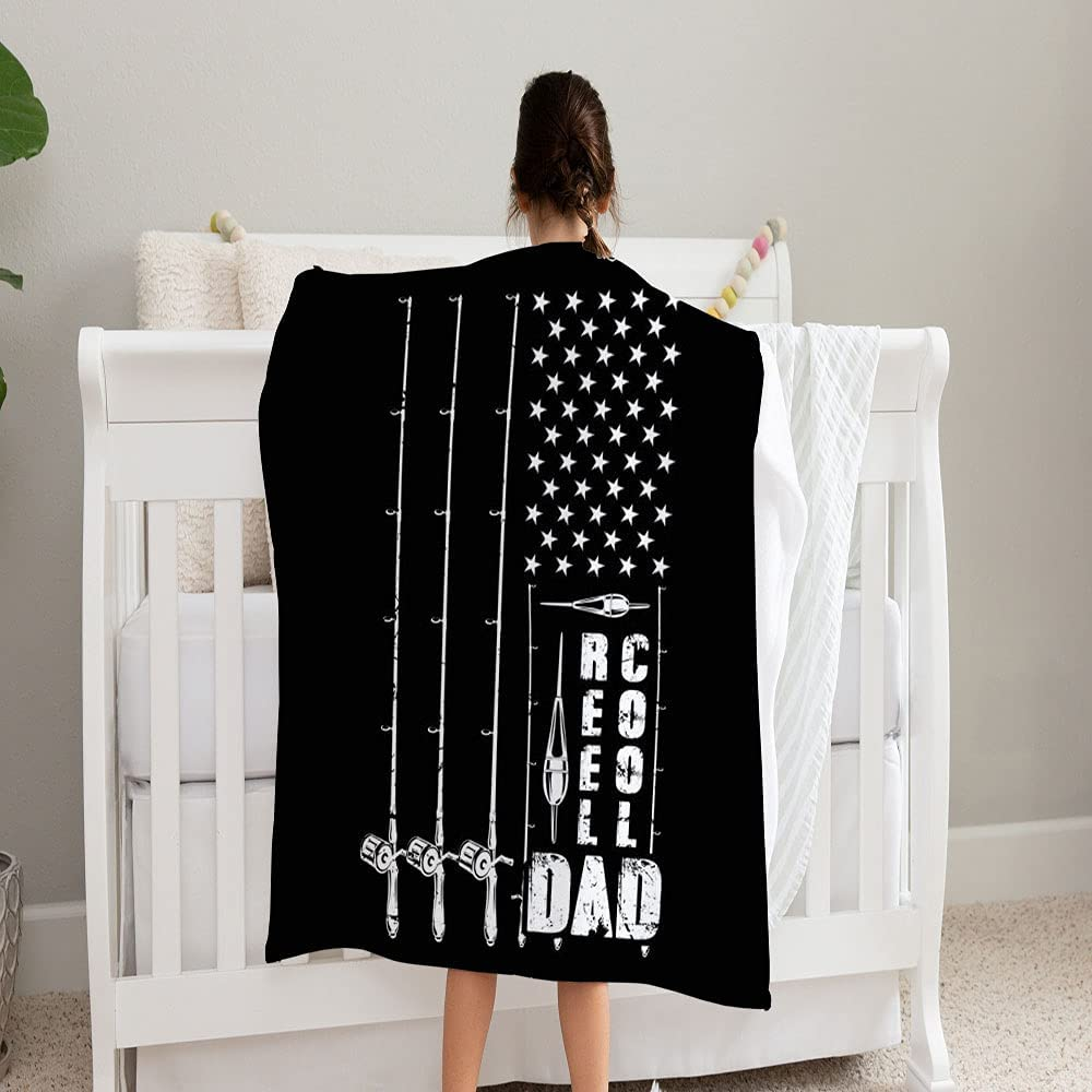 LPVLUX store Reel Cool Dad Fishing Blanket Dallas Mall Soft and Fleece Super Cozy
