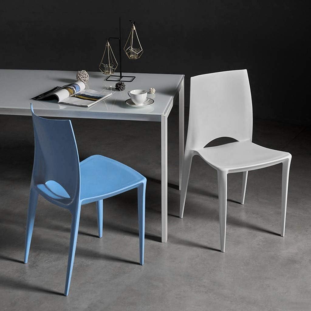 CUIS- Ligne irrégulière nordique, chaise en plastique minimaliste moderne, chaise rembourrée de bureau, coin-repas domestique, chaise longue café (Color : Red) White