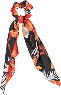 Ponytail Scarf Hair Rope for Women Bow Hair Ties Scrunchies Elastic Flower Print Ribbon Hairbands