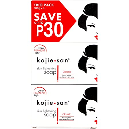 お得な3個パック Kojie san Soap 3 pcs Skin lightening soap こじえさん スキンライトニングソープ 1個100g [並行輸入品]
