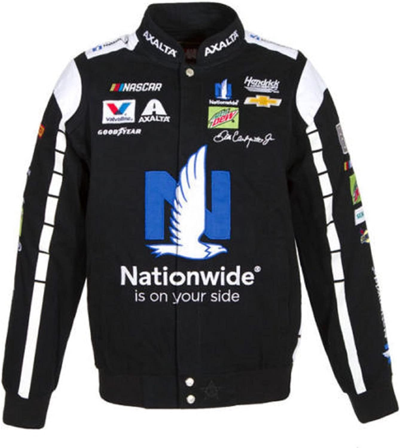 2017 Dale Earnhardt Jr. Nationwide Nascar Black Jacket Size 2XLarge