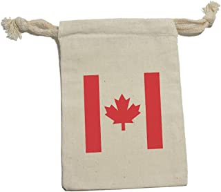 Graphics and More Canada Flag - Canadian International Muslin Cotton Gift Party Favor Bags - SM (1)