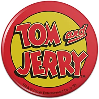 Tom and Jerry Logo Pinback Button Pin Badge - 1