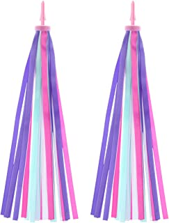 LIOOBO Children's Bicycle Streamers Scooter Streamer Bike Handlebar Streamers Baby Carrier Accessories -(Purple One Pair of)