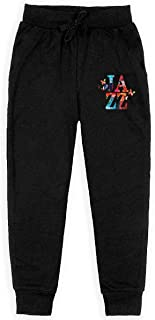 Boys Sweatpants Jazz Music with Music Notes Joggers Sport Training Pants Trousers Cotton Sweatpants for Youth