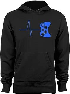 Heartbeat of a Gamer Hoodie Funny Gaming Sweatshirts Video Game Hoodies Graphic Hoody