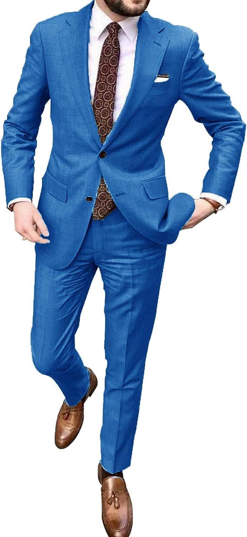 UMISS Men's 2-Piece Suit Two Buttons Lapel excellence Jacket We Pants Notch Memphis Mall