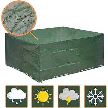 antistrappo 242 x 162 x 100 cm Telo Protettivo per Tavolo da Giardino Resistente ai Raggi UV per Esterni Ciaoed Colore: Nero Impermeabile Resistente AntiGraffio