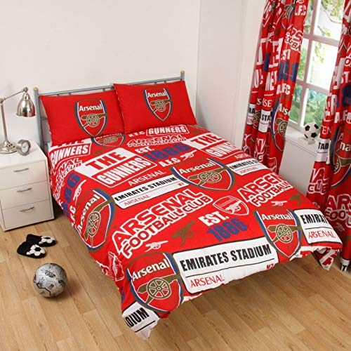 OFFICIAL Arsenal FC FOOTBALL Duvet Cover Bedding Quilt SET Single Reversible NEW