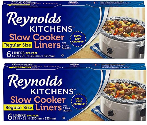 Reynolds Kitchens Premium Slow Cooker Liners - 13 x 21 Inch, 6 Count (2 Pack)