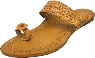 Step n Style Indian Ladies Leather Kolhapuri Handmade Chappal/Sandals Khussa Jutti