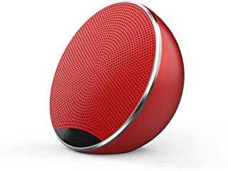 TDCQQ Mini Overweight Subwoofer German High Volume Small Steel Cannon Phone Wireless Portable Card Outdoor 3D Surround Bluetooth Small Speaker Car Audio (Color : Red)
