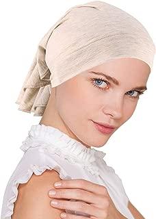 Womens Ruffle Chemo Hat Beanie Scarf, Soft Turban Bandana Head Wrap for Cancer