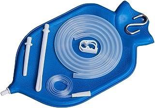 Enema Superior Bolsa Kit   Fuente 2 cuartos de galón (abierto) superior   28 páginas Manual de instrucciones   Manguera de silicona con suspensión metálica robusta - Azul