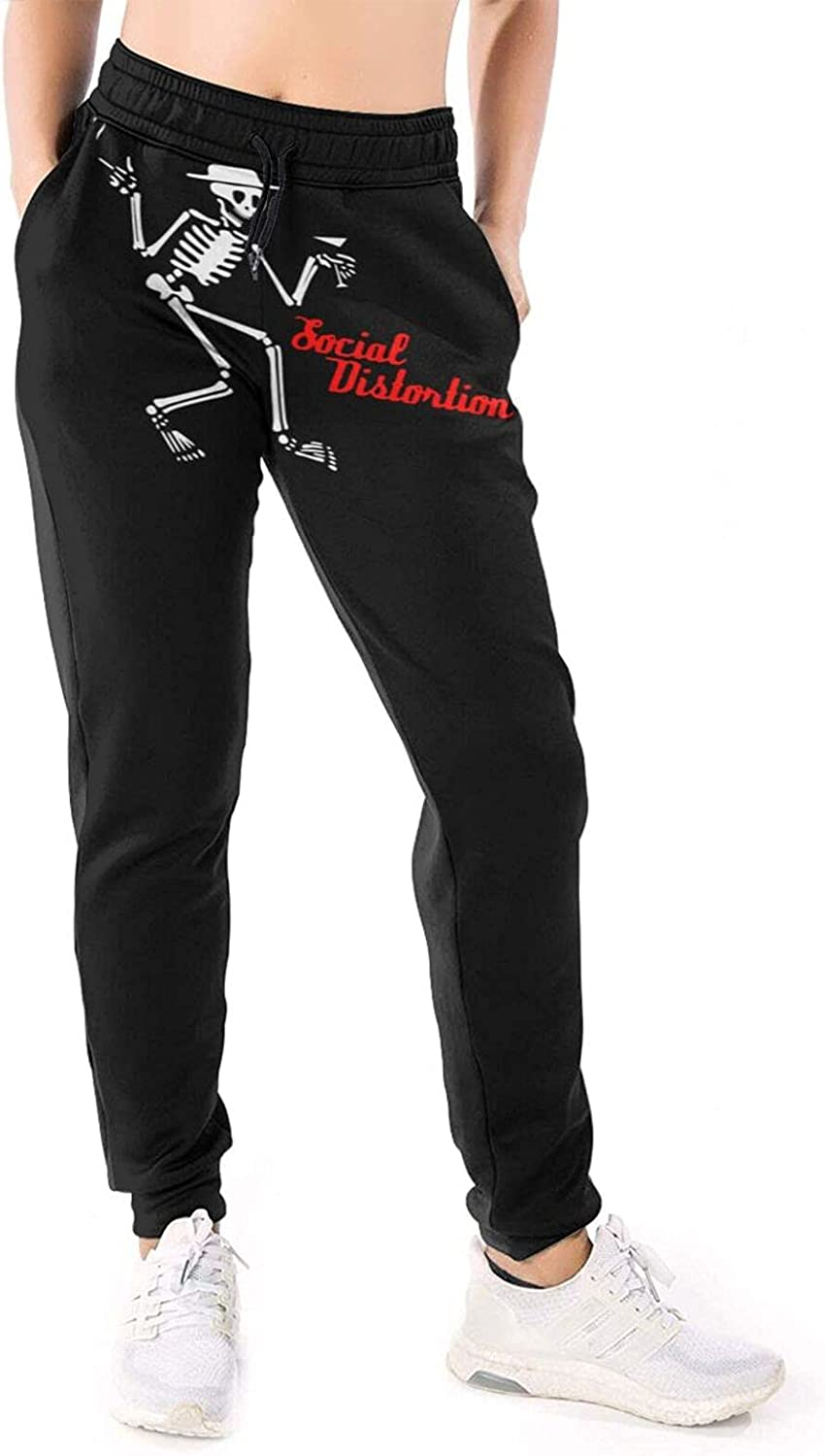 RDCLFJENQ Social Distortion Pants for Women's Sport Pull On Draw