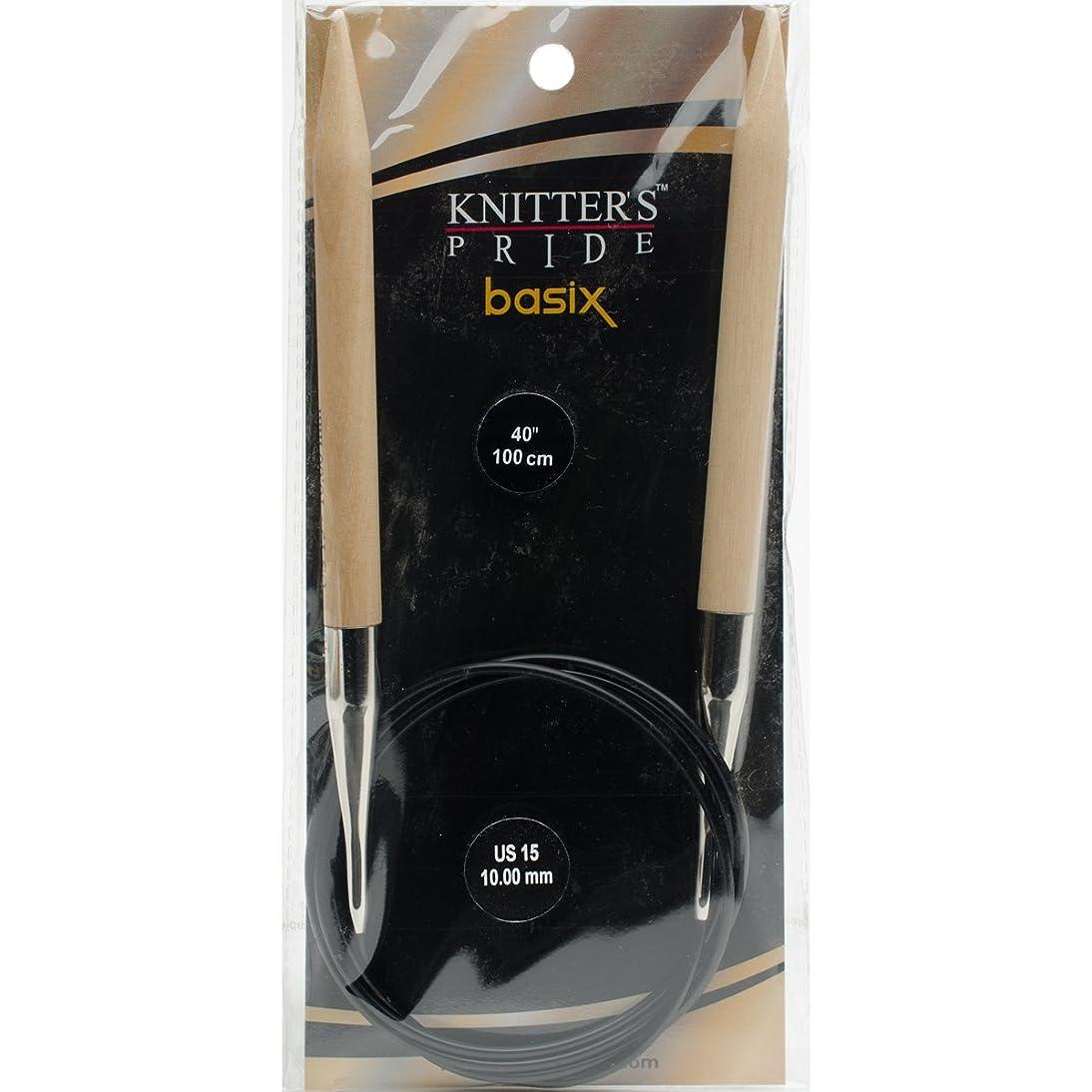 Knitter's Pride Basix Circular 40-inch (100cm) Knitting Needles; Size US 15 (10.0mm) 400242
