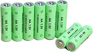 8pcs 1.5V New Alkaline Rechargeable Battery Cell AA Battery for Weather Station Led Light Toy MP3 TV Remote Controls Clocks and Radios Electronic Games Toy