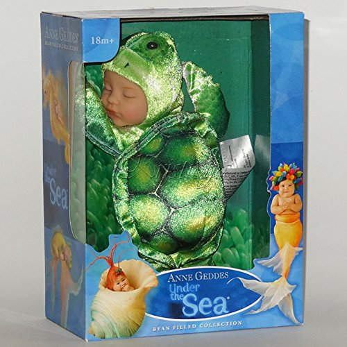 Anne Geddes 579162 Under The Sea - Green Turtle Baby 9 inch Doll / Groene Schildpad Pop