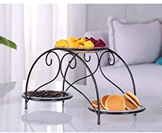 Panier Bowl - 3 couches Niveau autoportant de cuisine Top Fruit Basket stand AOIWE (Color : B)