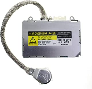 MOTOALL HID Xenon Headlight Ballast Control Unit Module for D2R D2S Bulb 85967-50020 85967-30050 85967-53020 85967-08010 85967-33010 KDLT002 DDLT002 Toyota Lexus Mazda Lincoln Porsche Land Rover