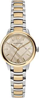 Swiss Gold 2 Tone Silver Date Dial 32mm Women Stainless Steel Wrist Watch The Classic BU10118