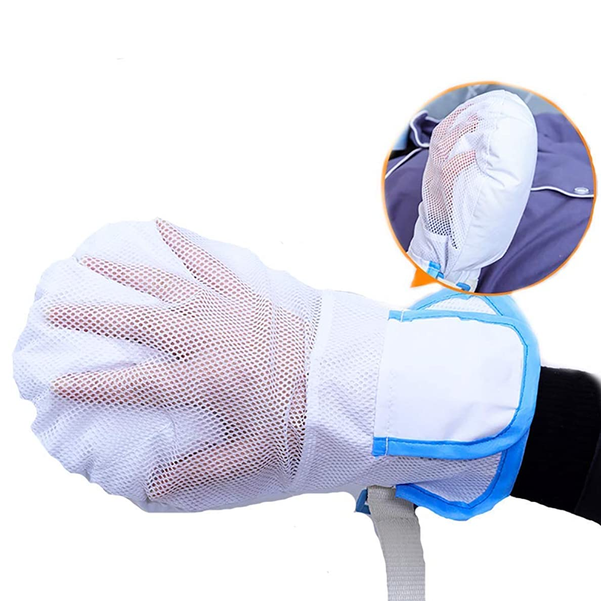 唯物論落ちた結婚式フィンガーコントロールミット、手の拘束、認知症安全拘束手袋ハンドプロテクターを保護します。 (1PCS)