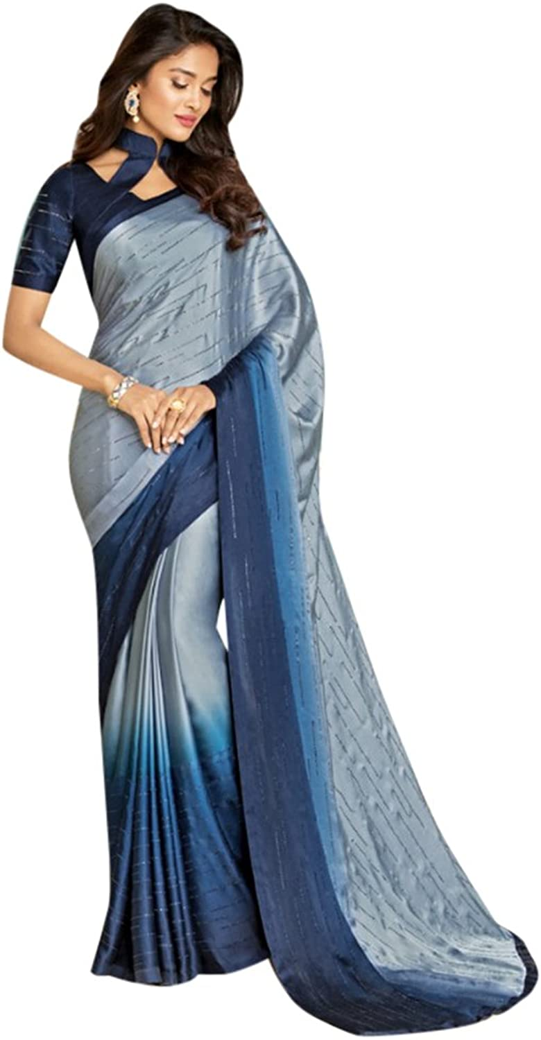 Designer Bollywood Saree Sari for Women Latest Indian Ethnic Collection Blouse Party Wear Festive Ceremony 2553 7