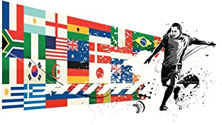 Soccer National Teams Flags Sports Cool Huge Large Giant Poster Art 36x54