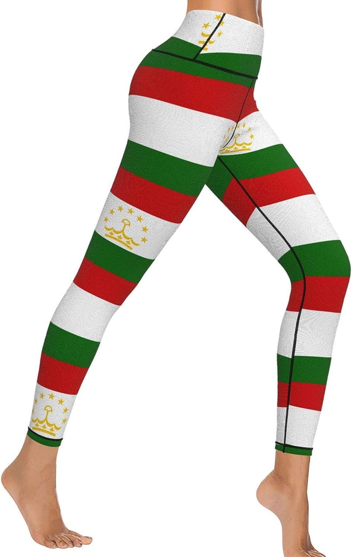 YYTT8 Super beauty product restock quality top Max 51% OFF Tajikistan Flag High Waist Yoga Opaque Sli Soft Pants and