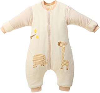 Bolsa de Dormir de Bebé de Mangas Largas,Invierno Sacos de Dormir para Bebé Niños Niñas 3.5 Tog XXL