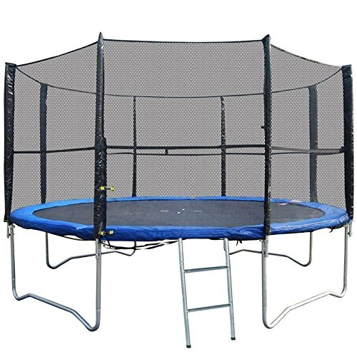 BodyRip Unisex Trampoline 6 Poles Safety Net-Black, For 10 ft Trampoline - Net Only