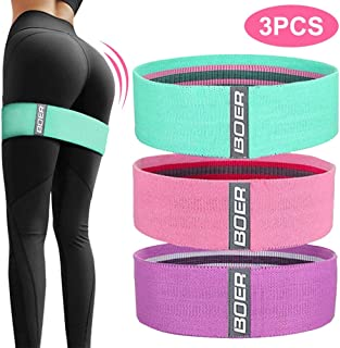 Xuers Fabric Resistance Bands for Legs and Butt, Non-Slip Hip Thruster Loop Band Set for Glute Activation, Booty Exercise and Fitness Workout(3Pcs)