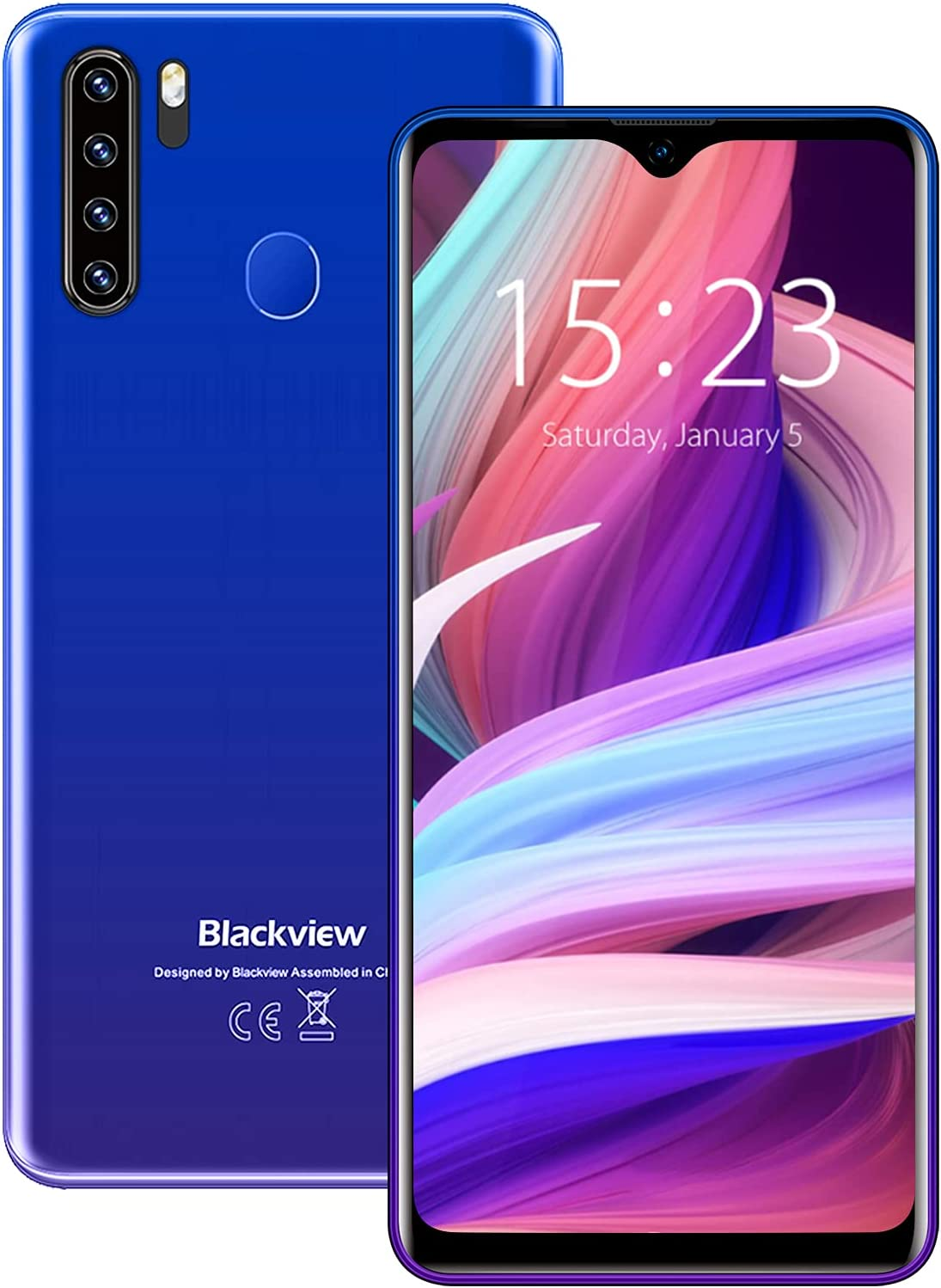 Unlocked smartphones, Blackview A80Plus, 4G bundle Android 10 OS android phone, dual sim unlocked cell phones, 4GB+64GB ROM, 6.5
