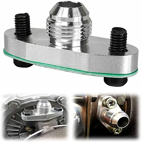 2021 Turbo Oil Drain Outlet Flange Adapter Kit discount with Gasket sale 10 an Fitting T3 T4, 0.48 Inch Outlet outlet sale