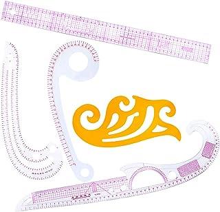 D DOLITY 5点セット 縫製定規 雲型定規 フランスカーブルーラー アクリル ファッション デザイナー