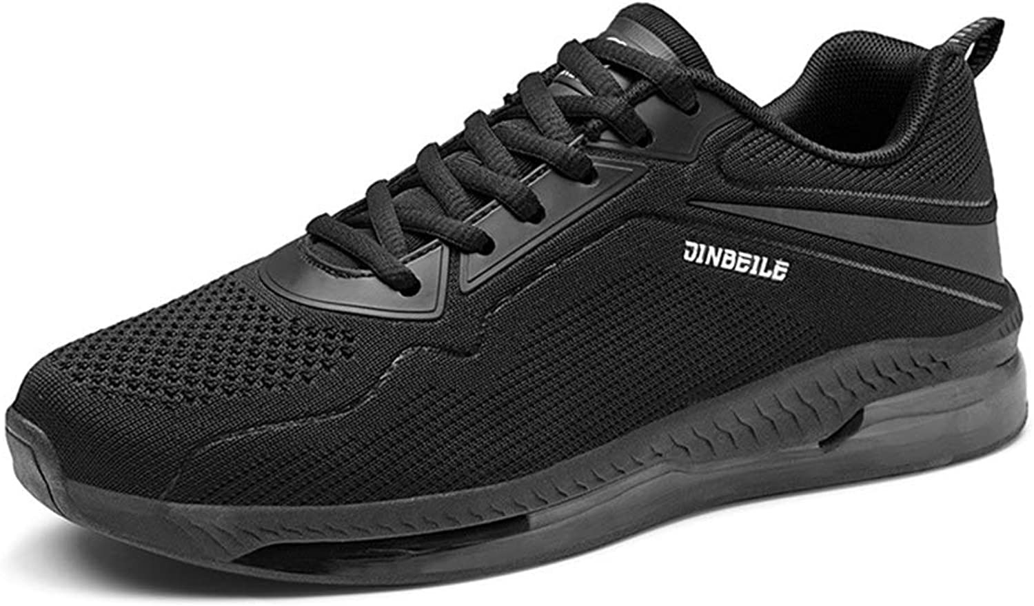 Qiusa Mens Breathable Running shoes Casual Durable Non Slip Comfort Sport shoes (color   Black, Size   UK 7)