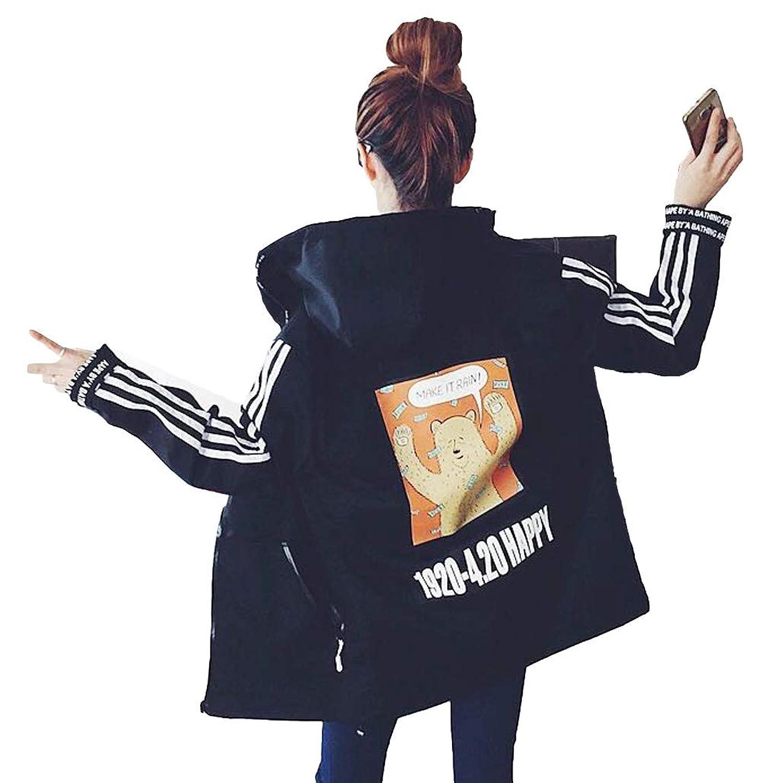 ZUOMAレディース迷彩服 ロングコート スタジャン 野球着 大きいサイズ フード付き 日常着用 厚手 カジュアル 棉服