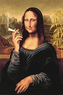 mona lisa smoking a joint poster