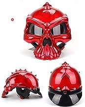 QYWSJ Casco de Moto de Cara Abierta, Máscara Desmontable del Casco del Casco de Harley De La Vendimia, Certificado Dot, Uso Dual Profesional, Transpirable, Unisex, Color Múltiple(M/L/XL)
