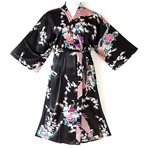 838 - Queen Size Peacock Japanese Women Kimono Sleep Robe 97135b1cd