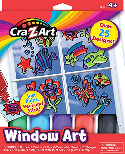 Window Art Decorative Design DIY Kit by Cra-Z-Art