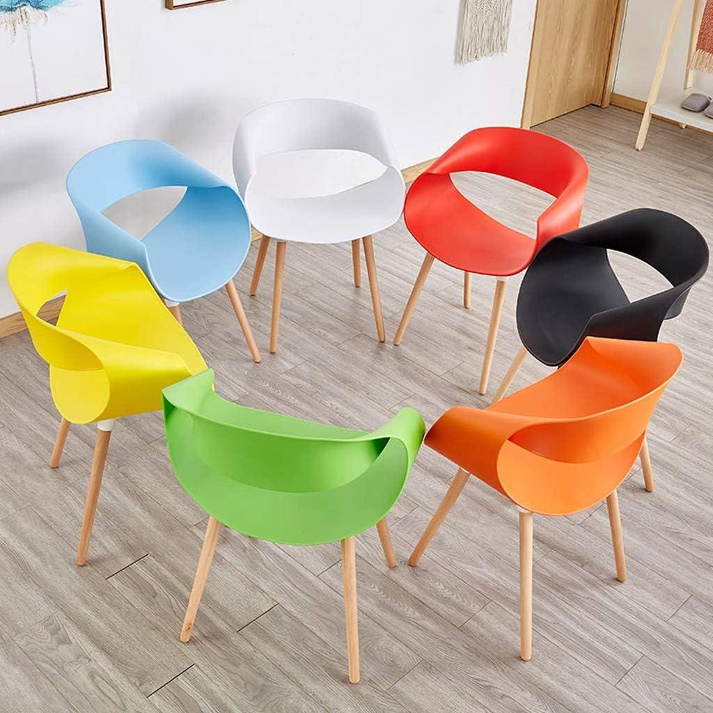 WDX- Chaise de Salle, Chaise de Bureau Simple, créative Dossier, Chaise Loisirs, Maison Adulte Chaise de Salle Confortable (Color : Yellow) Black