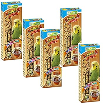 NESTOR Lot de 5 paquets de 2 bâtonnets à mâcher pour perruches avec miel