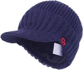G.C Winter Warm Caps Beret Newsboy Cap for Women Snow Ski Outdoor Twist Knitted Hat with Visor
