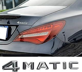 L&U 4MATIC Chrom Aluminiumlegierung Auto Trunk Tür Fender Auto Badge Aufkleber Emblem für Mercedes Benz