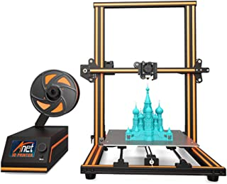 【Upgraded】3D Printer, Enow XY Axis Semi-Assembled Metal Frame Structure 5-Step DIY Kit with Filament Sensor, Assembled Nozzle Heat Bed, Pro Printing Large Print Size Base 300x300x400mm 110V US Plug