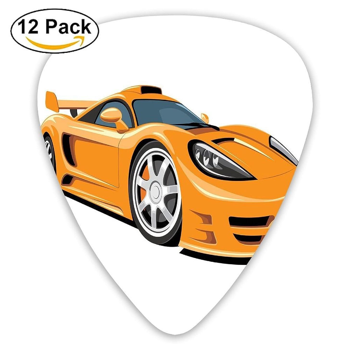 Newfood Ss Orange Sports Car Fast Racing Roadster Modern Automotive Technology Guitar Picks 12/Pack Set
